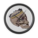 Skull Wearing Skyline Crown Large Wall Clock