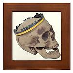 Skull Wearing Skyline Crown Framed Tile