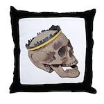 Skull Wearing Skyline Crown Throw Pillow