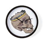 Skull Wearing Skyline Crown Wall Clock