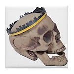 Skull Wearing Skyline Crown Tile Coaster