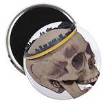 Skull Wearing Skyline Crown Magnet
