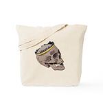 Skull Wearing Skyline Crown Tote Bag