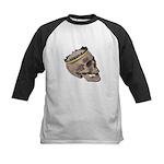 Skull Wearing Skyline Crown Kids Baseball Jersey