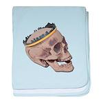 Skull Wearing Skyline Crown baby blanket