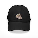 Skull Wearing Skyline Crown Black Cap