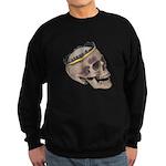 Skull Wearing Skyline Crown Sweatshirt (dark)