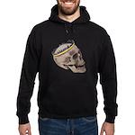 Skull Wearing Skyline Crown Hoodie (dark)