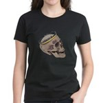 Skull Wearing Skyline Crown Women's Dark T-Shirt