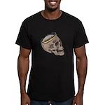 Skull Wearing Skyline Crown Men's Fitted T-Shirt (
