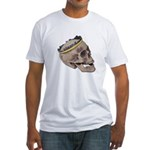 Skull Wearing Skyline Crown Fitted T-Shirt