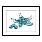 Starfish Glass Sand Dollars Large Framed Print