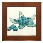 Starfish Glass Sand Dollars Framed Tile