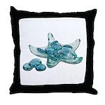 Starfish Glass Sand Dollars Throw Pillow