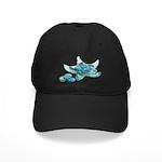 Starfish Glass Sand Dollars Black Cap