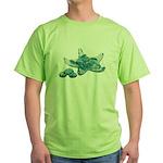 Starfish Glass Sand Dollars Green T-Shirt