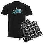 Starfish Glass Sand Dollars Men's Dark Pajamas