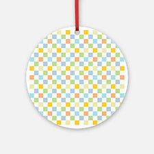 1970s Square Pattern Ornament (Round)
