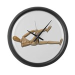 Stretching Knee and Shoulders Large Wall Clock