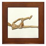 Stretching Knee and Shoulders Framed Tile