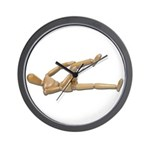 Stretching Knee and Shoulders Wall Clock