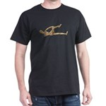 Stretching Knee and Shoulders Dark T-Shirt