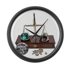 Weighing Gems on Scale Large Wall Clock