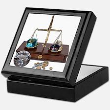 Weighing Gems on Scale Keepsake Box