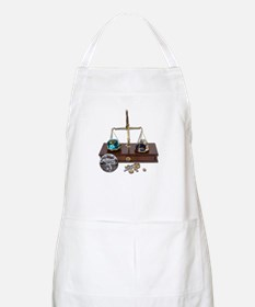 Weighing Gems on Scale Apron