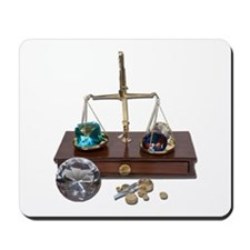 Weighing Gems on Scale Mousepad