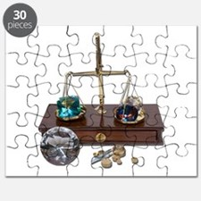 Weighing Gems on Scale Puzzle
