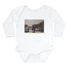 Vintage Cowboy #03 Long Sleeve Infant Bodysuit