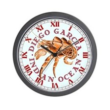 Red Coconut Crab Wall Clock