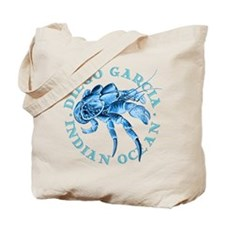Blue Coconut Crab Tote Bag