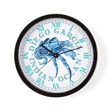 Blue Coconut Crab Wall Clock