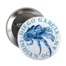 "Blue Coconut Crab 2.25"" Button (10 pack)"