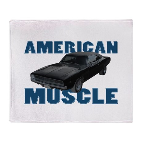 1968 Dodge Charger Midnight B Throw Blanket