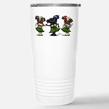 Hula Dancer Pugs Travel Mug