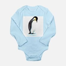 Emperor Penguin Long Sleeve Infant Bodysuit