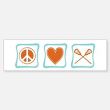 Peace, Love and Lacrosse Bumper Bumper Sticker