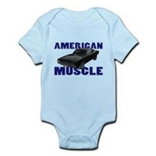 1968 Dodge Charger Blue Infant Bodysuit