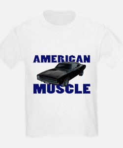 1968 Dodge Charger Blue T-Shirt