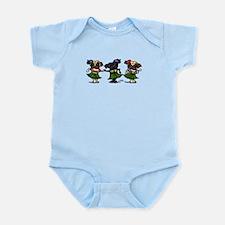 Hula Dancer Pugs Infant Bodysuit