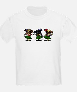 Hula Dancer Pugs T-Shirt