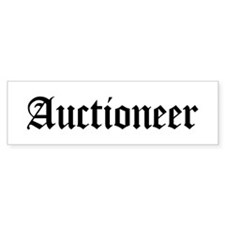 Auctioneer Bumper Car Sticker