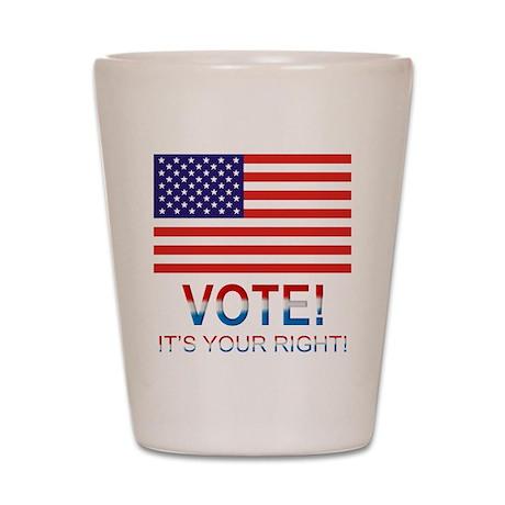 Vote Shot Glass