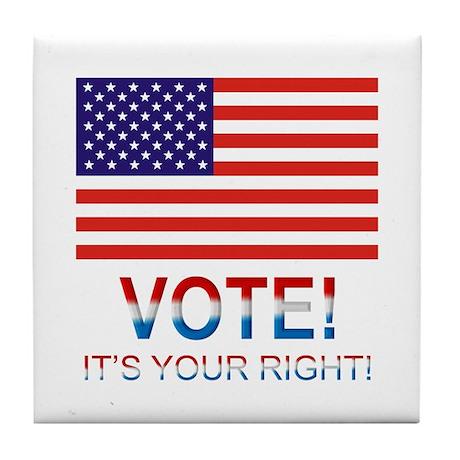Vote Tile Coaster
