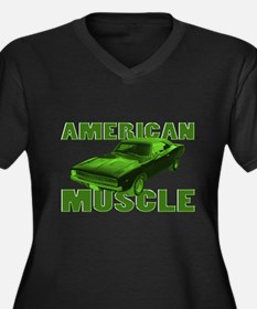 1968 Dodge Charger Lime Women's Plus Size V-Neck D