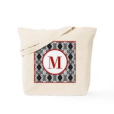 Diamond Red Monogram Tote Bag