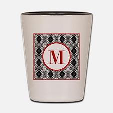 Diamond Red Monogram Shot Glass